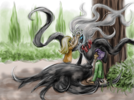 Darkrai And The Kids by BrookRiver
