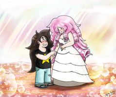 Greg Universe and Rose Quartz by Solvipect