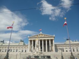 Austrian Parliament by Metalarchangel