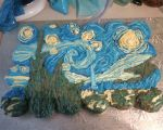 Van Gogh 'Starry Night' Cake by KittyKatCakes
