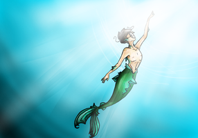 Merman!Cry Disney crossover by ArtOSophie