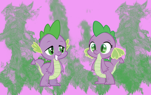 Spike and Barbara WP by AliceHumanSacrifice0