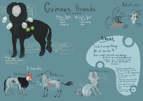 Gemnus Hound Species Ref by ChainsawTeaParty
