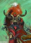Magnus the Red , the Primarch of the Thousand Sons by Nezermoar