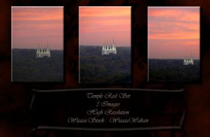 Temple Red Set wicasa-stock by Wicasa-stock