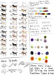 Equus Ballator Color chart by Fargonon