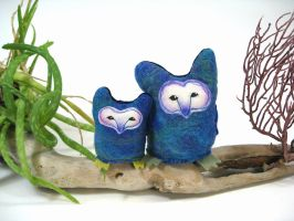 Tyto Owls plush pair by Lithe-Fider