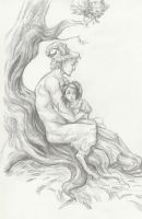 Ophelia and the faun by Queen-of-cydonia