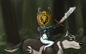 Midna the Legendary Warrior (and Link) by icedragon17