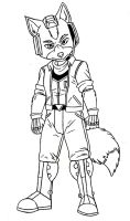 Fox McCloud Starfox 64 Sketch by ACdraw