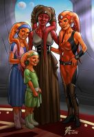 Twi'lek Family by artbytravis