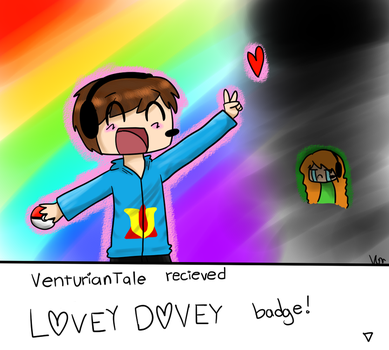 Lovey Dovey Badge! by TheSilverPie