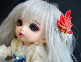 BJD Single Leaf Kanzashi by hanatsukuri