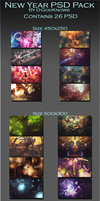 New Year PSD Pack By D-GodKnows by D-GodKnows