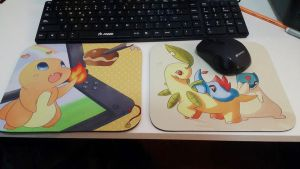 Pokemon Mousepads by SeviYummy