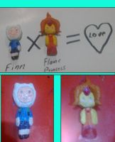 Finn X Flame Princess = love. papel mache vercion by CianLazer
