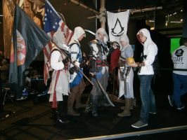 Assassin's Creed Team at Gamescom 2013 by LowmexCosplay