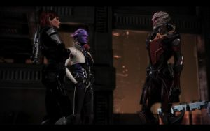 ME3 Shepard, Nyreen and Aria 3 by chicksaw2002