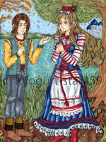 Belarus and Lithuania Meet By the Lake by Kyogurt-Star459