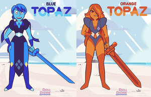 Blue and Orange Topaz by Longsword97