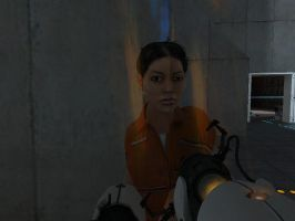 Chell Derp Face by jojogape