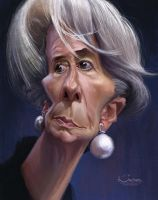 Christine Lagarde by creaturedesign