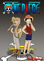 Kyo and Luffy: One Piece by DiscoSaeba