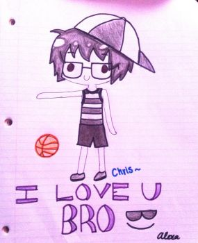 My bro Chris xD by AhoyNekoChan
