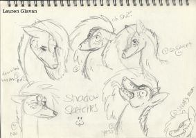 Shadow sketches Expression practice by LaurenBlu