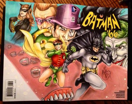 Batman 66 Sketch Cover by animaddict