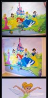 disney princess mural  -  commission by nightwing1975