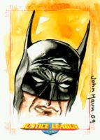JLA BATMAN Sketch Card by JohnHaunLE