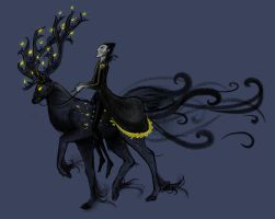 Pitch's Nightmare Stag by Lithe-Fider