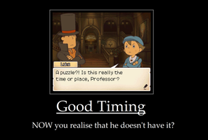 Professor Layton Demotivational - Timing by Arciam