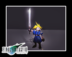 Final Fantasy 7 snap 1 - Cloud Strife LEGO Version by oathbinder-3D