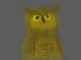 Lineless owl by firagare