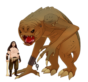 Malakili and the Rancor by DrZime