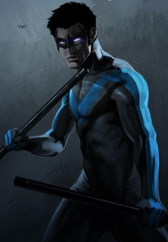 -- Nightwing -- by yvanquinet