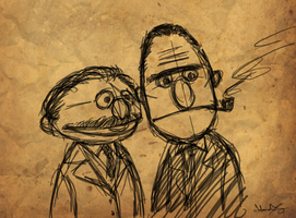Bert and Ernie -?- by nitefise