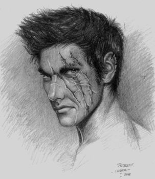 Connor with scars by MIHO24