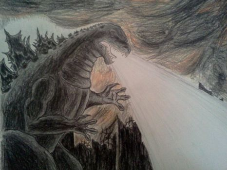 GODZILLA (1954) DRAWING by Kongzilla2010