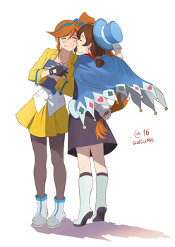 Athena  and Trucy by Autumn-Sacura