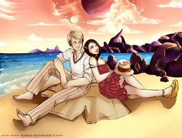 On an alien beach by Miss-Alex-Aphey