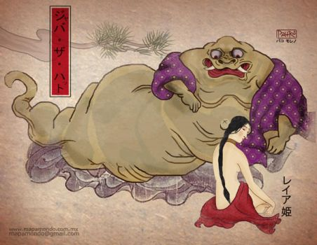 Jabba and Leia Japan by pahko