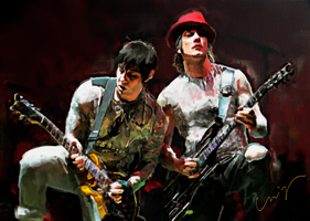 Avenged Sevenfold's Zacky and Syn by nicollearl