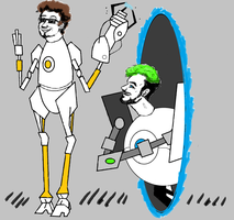 Bob And Jack Play Portal by dolphintreasure81