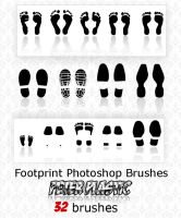 Footprint brushes by PeterPlastic
