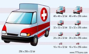 Ambulance car Icon by phorago