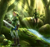 The legend of zelda : lost wood by Rachol-hoshino