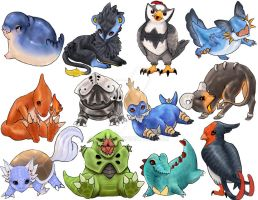 Pokemon Stickers 4 by Leashe